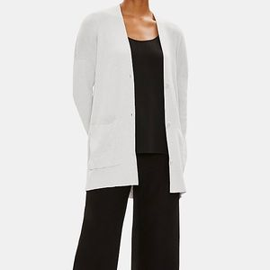 Eileen Fisher Open Cardigan Cotton Blend P/L
